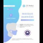 Masque Barrière Non Médical Adulte Blancs B/6 à Valenciennes