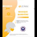 Masque Barrière Non Médical Enfant (11/16 Ans) Blancs B/6 à Valenciennes