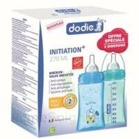 Dodie Initiation+ Biberon Tétine 3vitesses Débit 2 Bleu 270ml Coffret/2 à Valenciennes