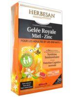 Herbesan Gelée Royale Miel - Zinc Dès 4 Ans B/20 à Valenciennes