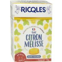 Ricqles Sucres Cuits Bonbon Citron Mélisse Sans Sucre B/40g à Valenciennes