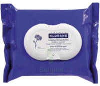 Klorane Soins Des Yeux Au Bleuet Lingette Démaquillante Biodégradable Pack/25 à Valenciennes