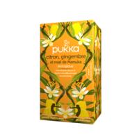Pukka Bio Citron, Gingembre Et Miel De Manuka Tisane Immunité Citron Gingembre Miel De Manuka 20 Sachets à Valenciennes
